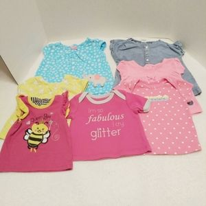 Lot of 7 infant Shirts Carters